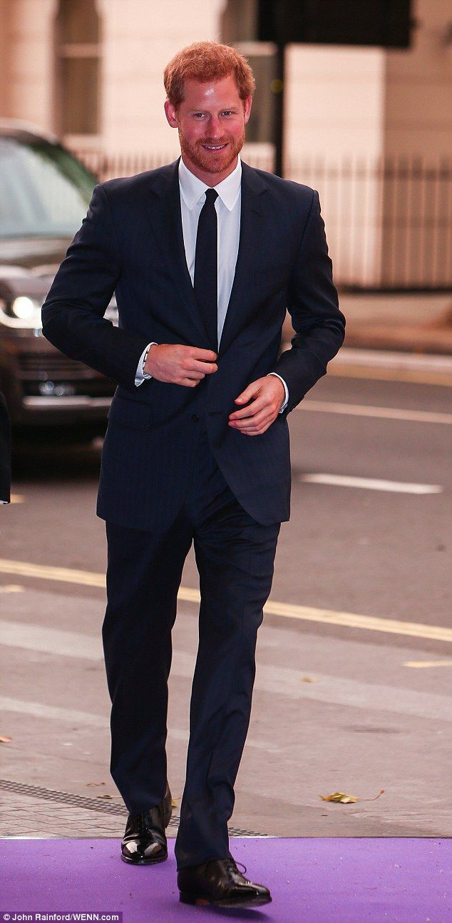 The beaming royal looked in great spirits as he arrived to support one of his most important charities