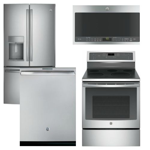 Package Gep1 Ge Profle Appliance Package 4 Piece Appliance Package With Electric Range Stainless Electric Range Appliance Packages Ge Profile Appliances