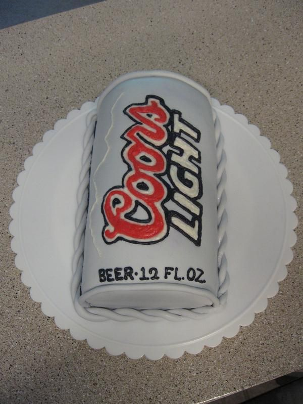 coors light birthday cake | Coors Light beer can birthday cake in Special Occasion Cakes by Meagan ...