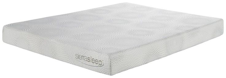 "Sierra Sleep By Ashley M97131 7"" Memory Foam/Gel Mattress Queen White"