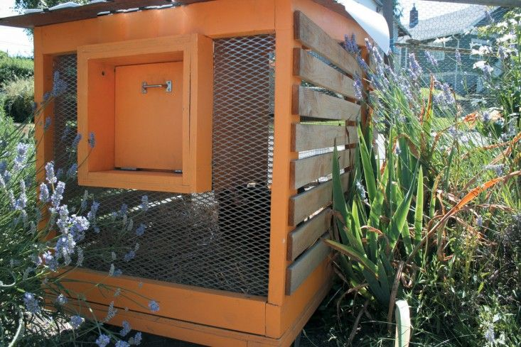 Whether you decide to purchase a ready-made coop or build you own, Bloom provides tips on materials, size, and placement. Above, a modern coop-tractor designed by Nicole Starnes Taylor. (From Free-Range Chicken Gardens by Jessi Bloom)