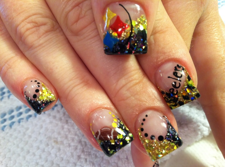 68 best steelers nails images on pinterest fashion black and as much as i dislike the steelers these are freaking sweet prinsesfo Choice Image
