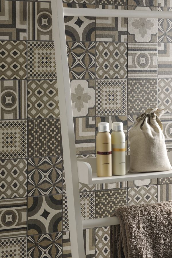 """""""Inside"""" porcelain tiles by Fioranese in a Deco Warm color palette #madeinitaly"""