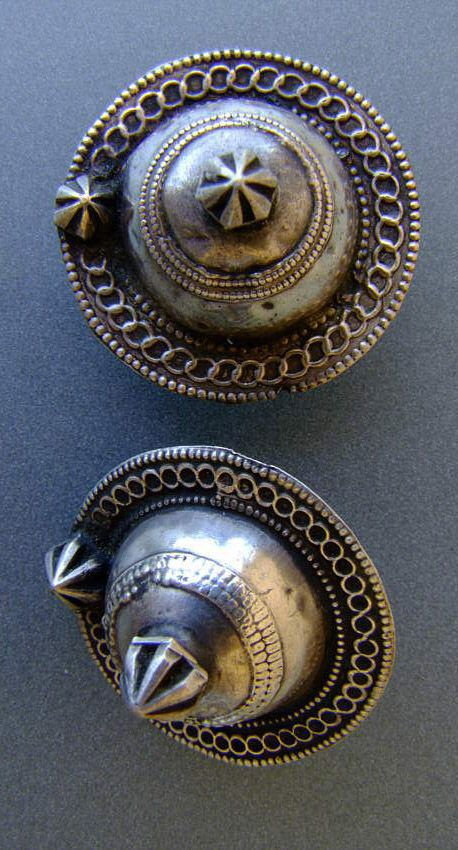 India | Earrings; silver | 20th century.  Madhya Pradesh | Price on request.