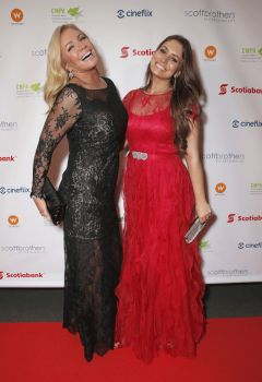 Shannon Tweed and Sophie Tweed-Simmons at the 2013 Producers Ball, Toronto, benefitting World Vision.