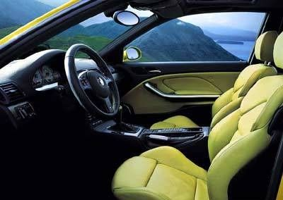 BMW 3 series E46 coupe yellow and black interior