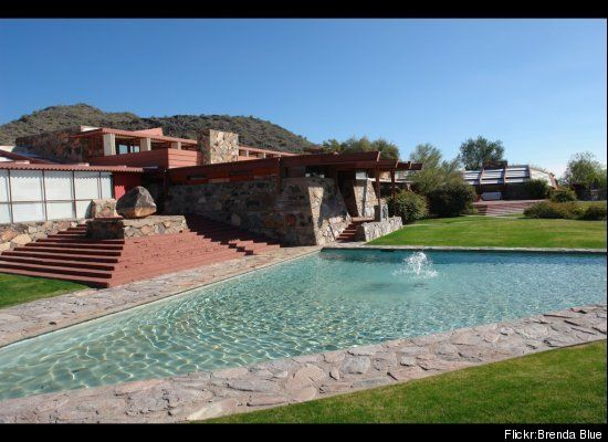 Location: Scottsdale, Ariz. Built: 1937-1959 More info  Taliesin West  Frank Llyod Wright built the Scottsdale, Ariz. residence to use as his personal winter home -- which also served as a studio and architectural campus -- until his death at age 89.