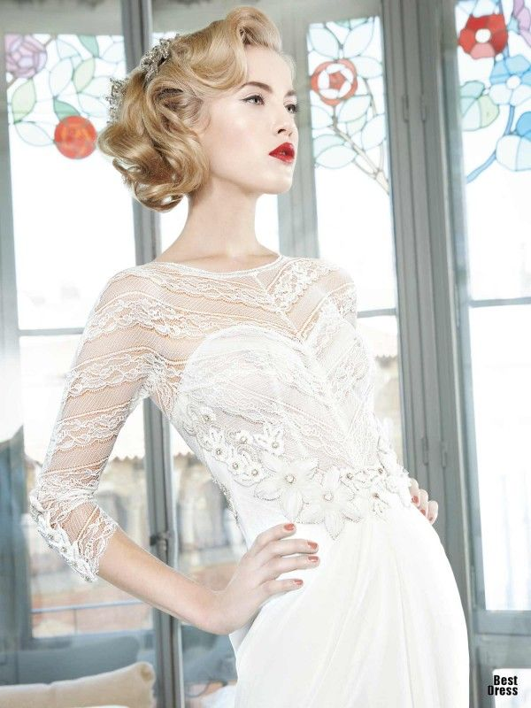 Yolan Cris Wedding Dresses 2013...Love the details. Change to color & skirt shape to fit your style.