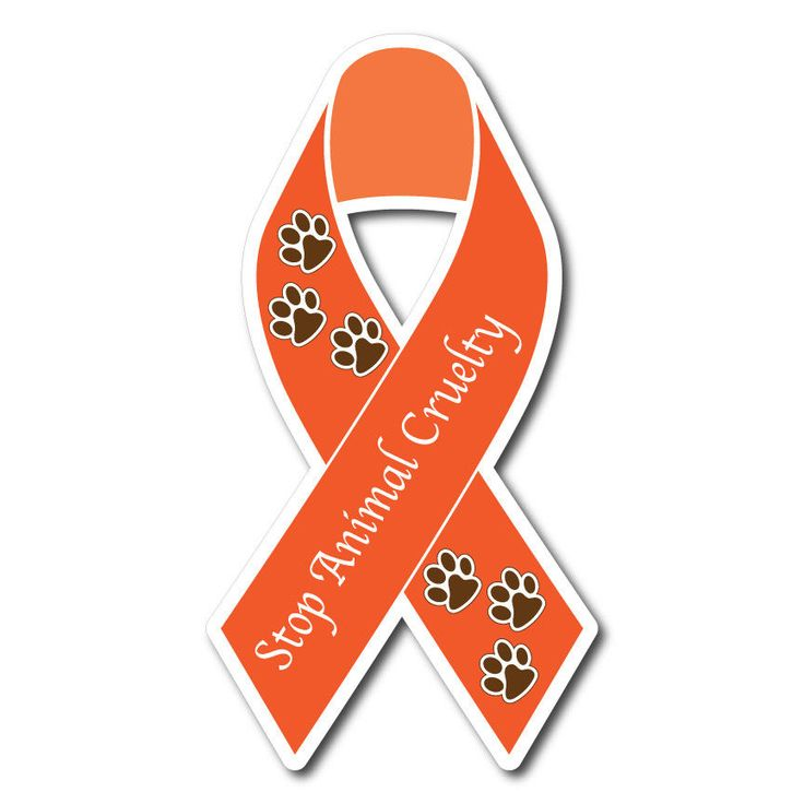 STOP ANIMAL CRUELTY RIBBON STICKER DECAL OR MAGNET #ThePatchLab