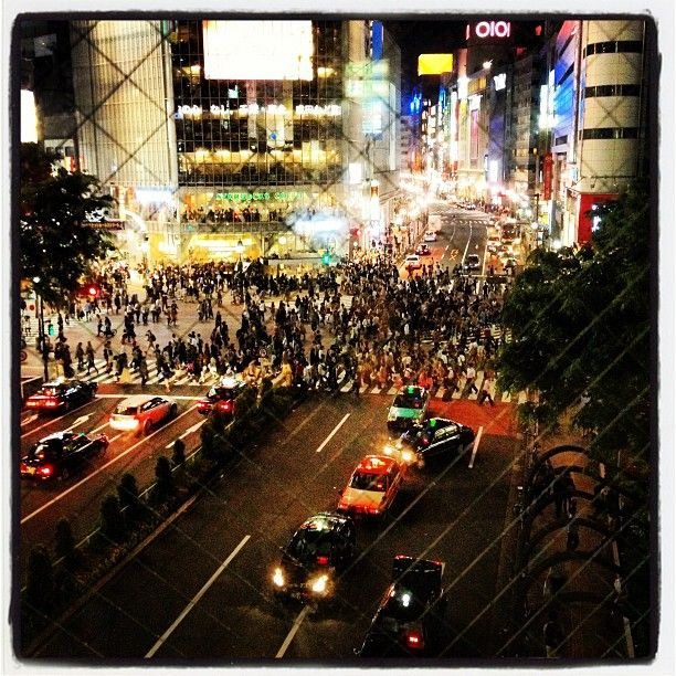 scramble intersection in Shibuya