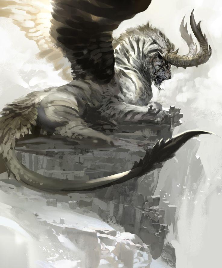 Hybride entre un tigre et un Démon des airs