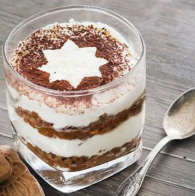 Easy: Tiramisu with biscuit without egg. Author: Receptenmaken.nl Recipe type: DessertCuisine: Italian Prep time: 20 mins Cook time: 40 mins Total time: 1 hour Serves: 8 Ingredients 250 ml. whipped cream 4 tablespoons sugar 500 grams of mascarpone 20 to 24 speculaasjes 3 tablespoons amaretto 1 cup strong coffee Instructions