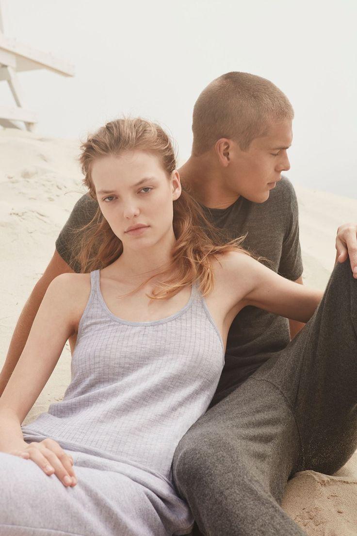 Roos Abels models Calvin Klein Collection's pre-spring 2017 Cashmere line