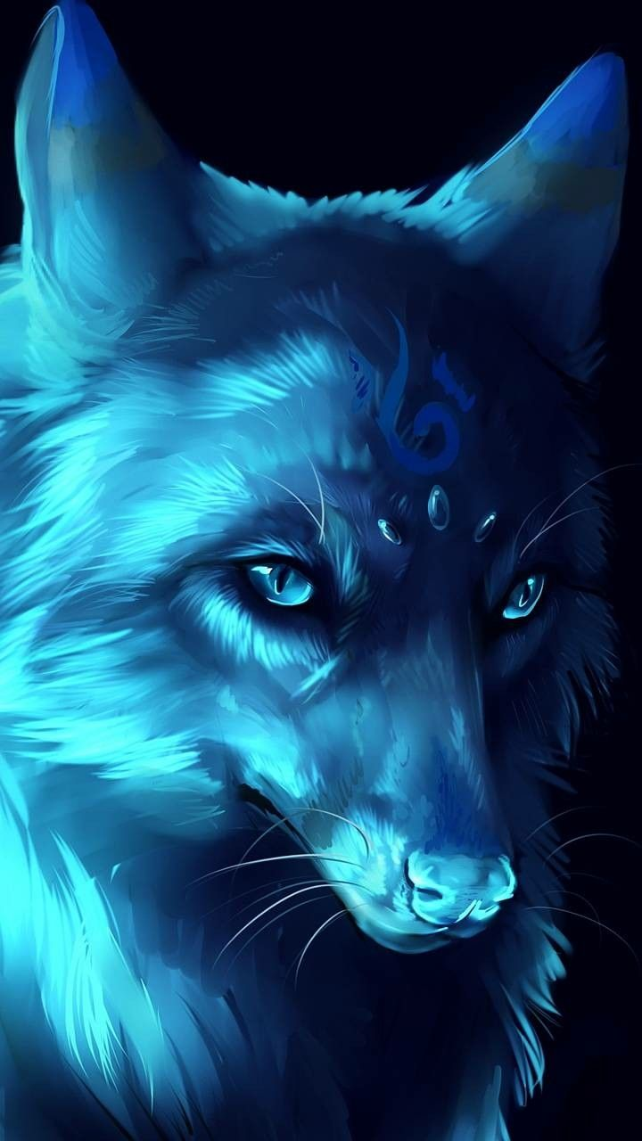 Galaxy Wolf Wolf Mythical Creature Anime Cool Wallpaper