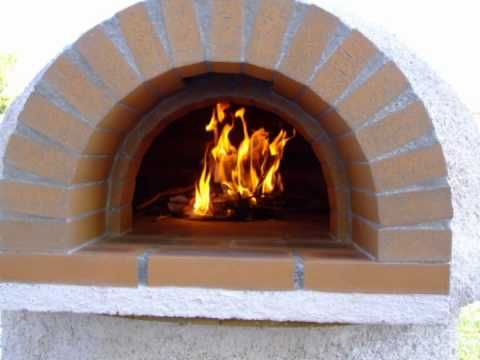 Four a pain bois pizza Horno de barro de Leña Wood oven Pizza ofen Holzo...