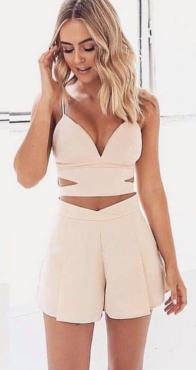 two piece outfit sets Nude Two Piece Set Source | Stunning Jewelry in 2018 | Pinterest  two piece outfit sets