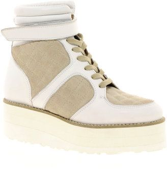ASOS DESIRE Leather Flatform High Top Sneakers Asos