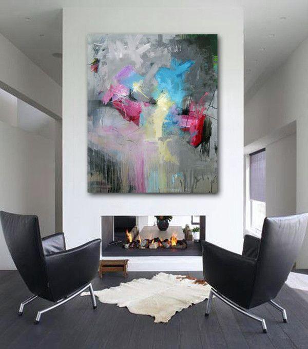 Rikke Laursen moderne abstrakte malerier | SHOWROOM