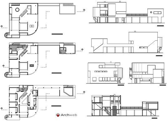 Saltzman house 2D dwg - R. Meier | saltzman house | House, Richard on