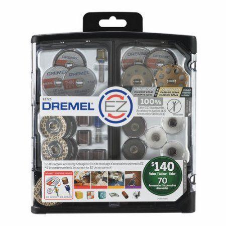 dremel tool walmart. dremel ez725 ez lock all-purpose rotary tool accessory storage kit, 70-piece, multicolor walmart
