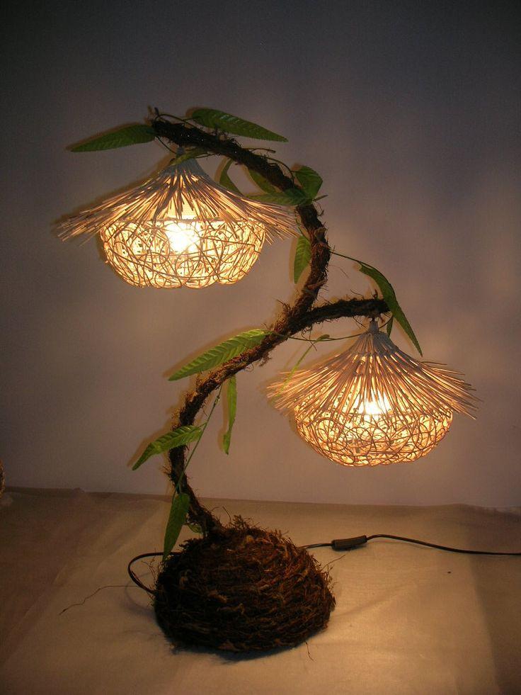 Una original l mpara diy que no sabemos si es planta o es - Lamparas originales ...