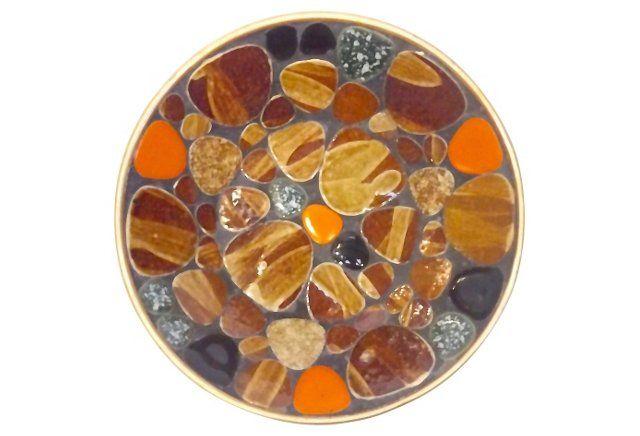 Mid-Century Modern Mosaic Tile Dish