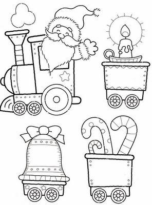 Moldes para comboio de natal - Pra Gente Miúda
