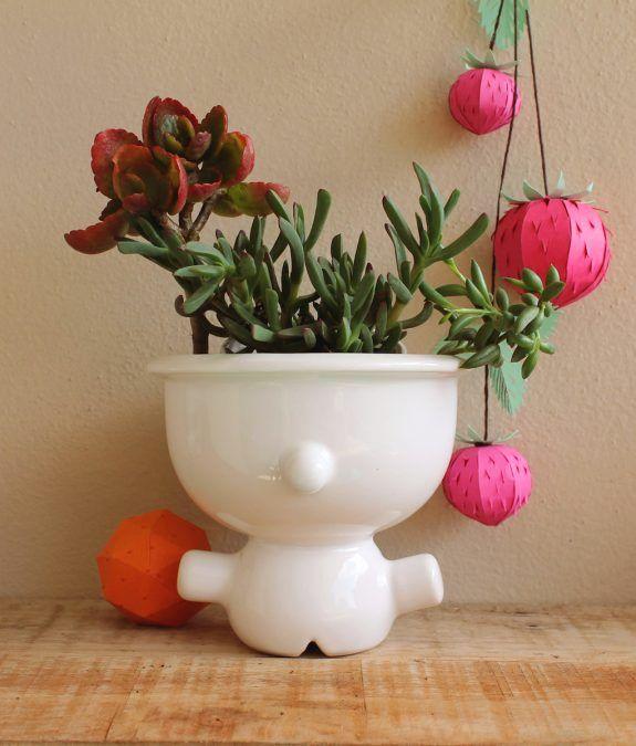 maceta suculenta ceramica artesanal