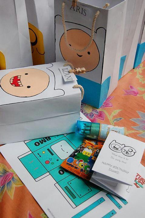 Izani's 7th birthday adventure time party packs