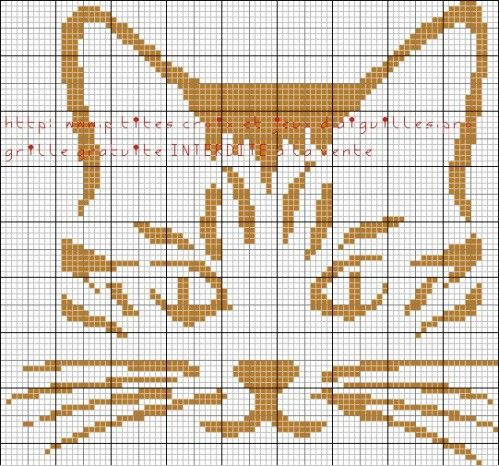 chat - cat - broderie - cross stitch - Point de croix - Blog : http://broderiemimie44.canalblog.com/