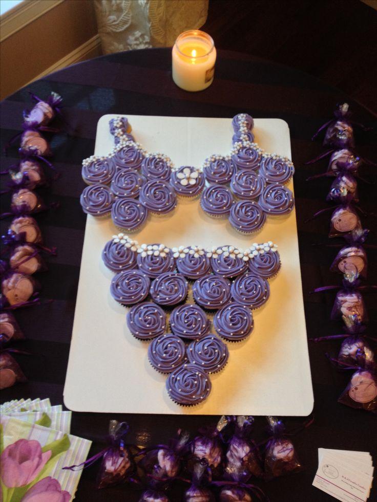Lingere shower cupcake cake