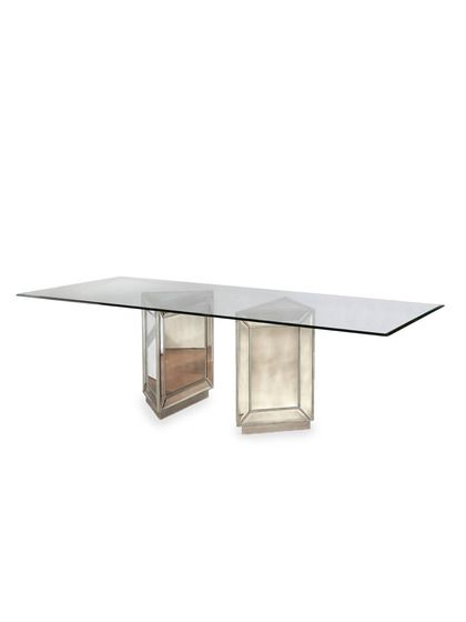 198 best MirrorsMirrored Furniture etc images on  : ea0fe26115cc833c921b4c410e610c76 pedestal dining table table mirror from www.pinterest.com size 420 x 560 jpeg 7kB