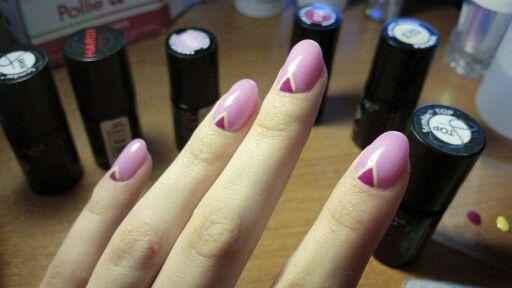 #nail  #art #semilac #pink