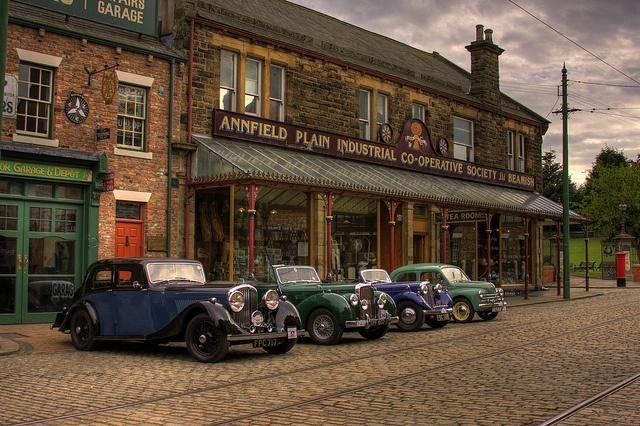 Vintage Cars on the Beamish Cobbles by Beamish Museum, via Flickr