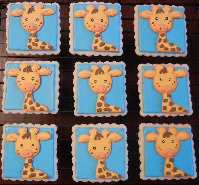 Giraffe Baby Shower Cookies