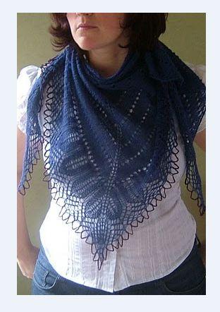 Схема к шали Элина / Вязание спицами / Вязание для женщин спицами. Схемы