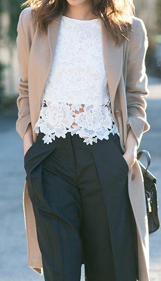 Lace crop.