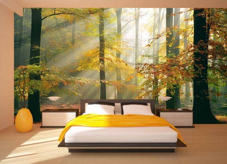 Afbeeldingsresultaat voor kast bos behang fotobehang Pinterest - interieur design dreidimensionaler skulptur