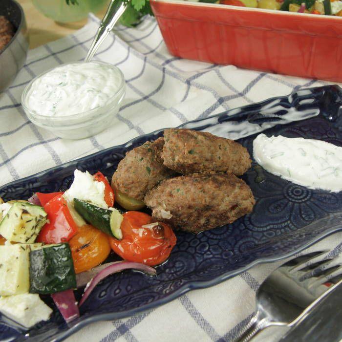 Medelhavsbiffar med rostade grönsaker - Mitt Kök