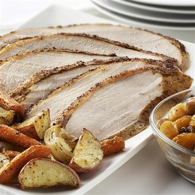Sage-Rubbed Turkey Breast: Simple, deliciously flavored turkey - great Thanksgiving alternative when you don't want to  cook a whole turkey
