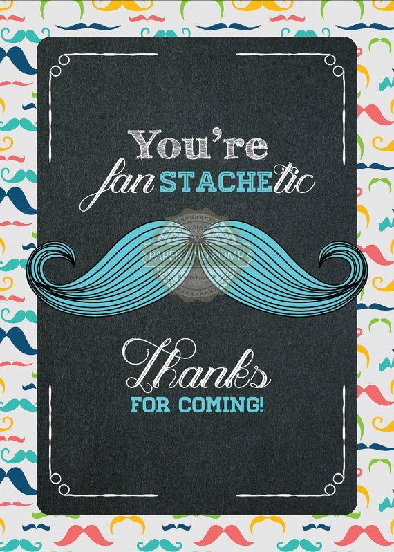 Instant Download  Mustache Baby Shower Little Man by PaperandPomp, $13.50