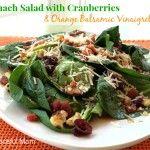 Spinach Salad with Cranberries & Orange Balsamic Vinaigrette