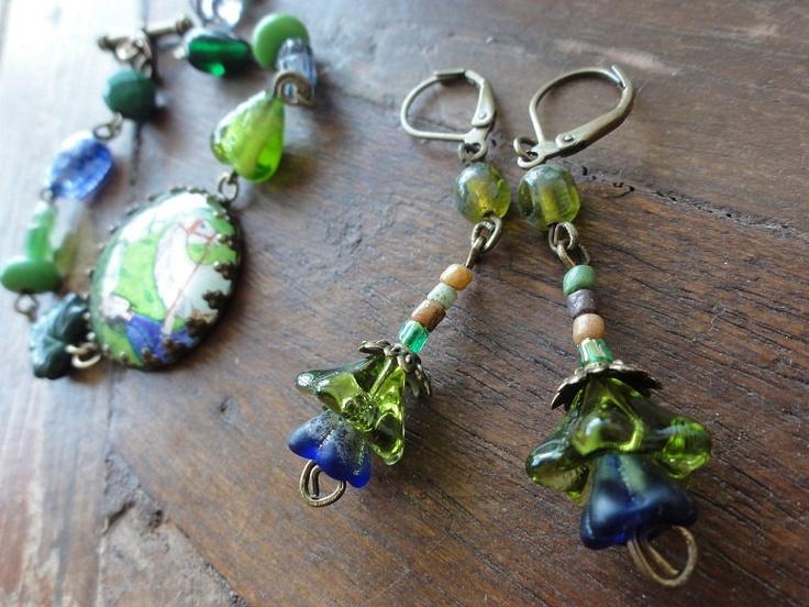 Bluebells in the Springtime Earrings