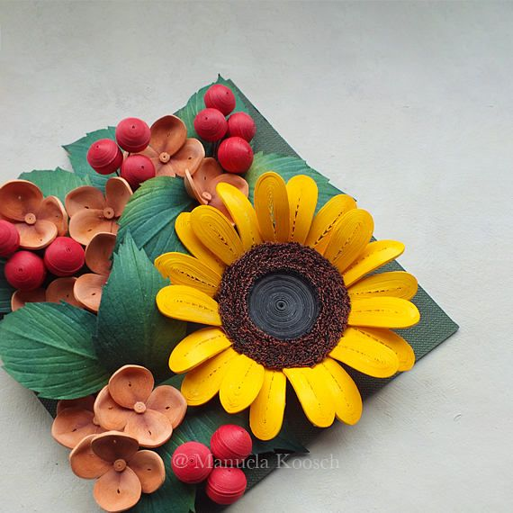 Sunflower Decor Mother S Day Gift Burnt Orange Yellow Red Summer