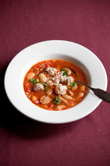 Pork sausage and butter bean soup, photo Devin Hart