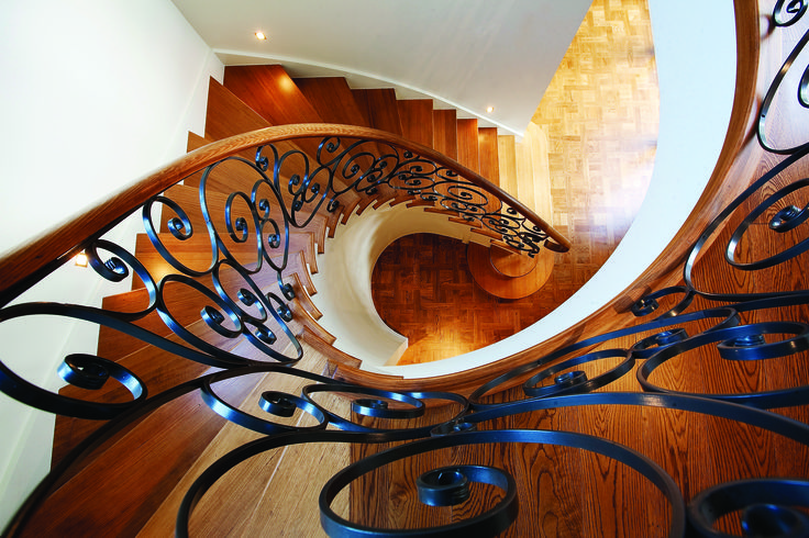 Curved Staircase, With American Oak Finish. Ravida- Property With Distinction