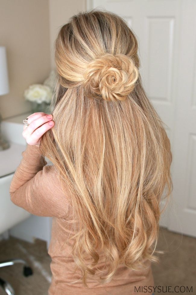 Image Result For Rose Bun Half Up Half Down Hair Styles