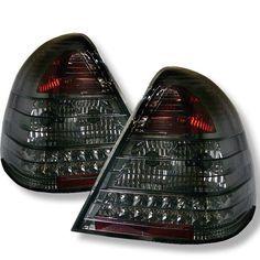 ( Spyder ) Mercedes Benz W202 C-Class 94-00 LED Tail Lights - Smoke