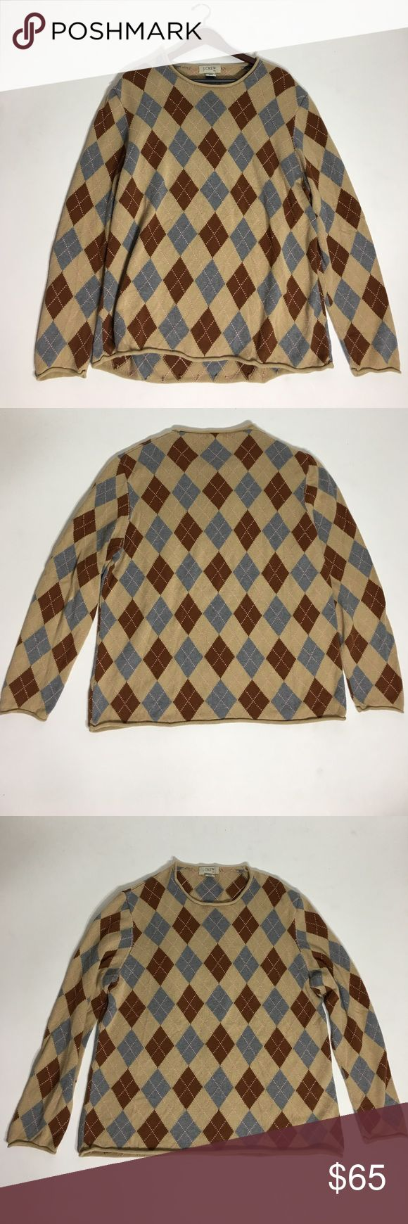 🥂HP🥂 J. Crew Argyle Men's Sweater - Size XXL 📌Price Firm - Will need a steam to get the curl out.  Please ask questions before purchasing.  Fair Condition.  See pictures for more information and description details.  Thank you for stopping by my closet.  Sparkles ✨ and Happy Poshing!29 J. Crew Sweaters Crewneck