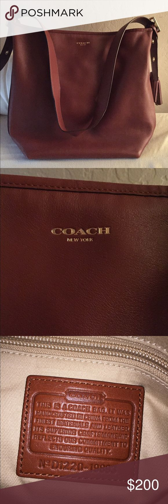 Coach legacy leather duffle Very good condition Coach leather bag. Used only a handful of times. Includes protective bag Coach Bags Shoulder Bags